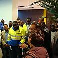 Occupation de l'entreprise Arene à Bagneux par les salariés sans-papiers